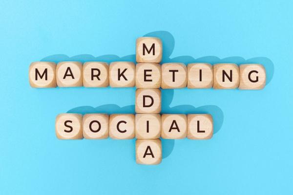 Social Media Marketing words on wooden blocks